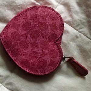 ❤️Coach heart ❤️ shaped coin purse